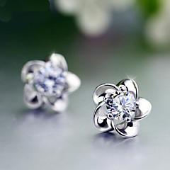 preiswerte Ohrringe-Ohrstecker - Perle Blume Büro, Geburtssteine Purpur Für