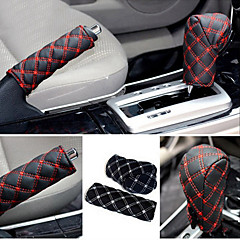 cheap Vehicle Seat Covers & Accessories-ZIQIAO Hand Brake Case & Gear Shift Case Car Interior Accessory 2PCS/Set