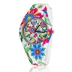 お買い得  大特価腕時計-女性用 ファッションウォッチ クォーツ シリコーン バンド フラワー 多色 ブランド-