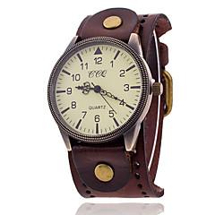 お買い得  メンズ腕時計-Xu™ 男性用 クォーツ リストウォッチ ホット販売 ナイロン バンド チャーム ブラック 白 ブルー レッド オレンジ ブラウン グリーン