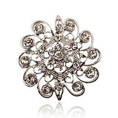 お買い得  ブローチ-女性用  -  ラインストーン, 銀メッキ, イミテーションダイヤモンド ぜいたく, 欧風, シンプルなスタイル ブローチ 用途 パーティー / 日常 / カジュアル
