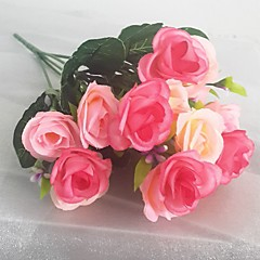 abordables Decoración de Oficina-Seda / Plástico Rosas Flores Artificiales