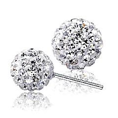 preiswerte Ohrringe-Damen Kubikzirkonia Ohrstecker - Sterling Silber, Zirkon, Silber Silber Für Hochzeit / Party / Alltag