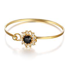 voordelige Armbanden-Cuff armbanden Synthetische Sapphire Edelsteen Natuurlijk Zwart Synthetische Edelstenen Verguld Sieraden Voor Feest
