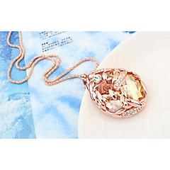 preiswerte Halsketten-Kristall Anhängerketten - Krystall Einfach, Klassisch Dunkelblau, Golden Modische Halsketten Für