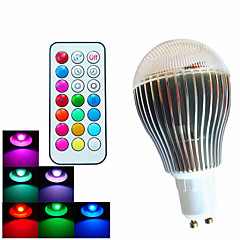 cheap LED Bulbs-500lm GU10 LED Globe Bulbs A60(A19) 3 LED Beads High Power LED Dimmable Decorative Remote-Controlled RGB 100-240V