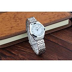 preiswerte Armbanduhren für Paare-Herrn / Damen / Paar Modeuhr Legierung Band Silber / Gold