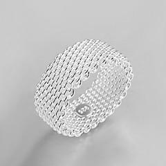 preiswerte Ringe-Damen Bandring - versilbert Personalisiert, Modisch Eine Größe Silber Für Party