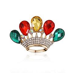 Dames Luxe Sieraden Europees Synthetische Edelstenen Acryl Strass Gesimuleerde diamant Legering Kroonvorm Drop Sieraden Voor Bruiloft