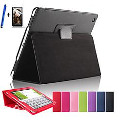 magnetische auto wakker slaap flip litchi lederen tas voor iPad Air Cover tablet met gratis screen protector + pen