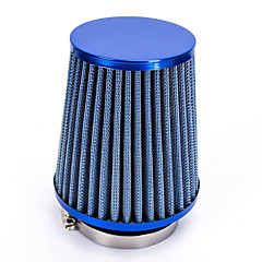 "cheap Auto Parts-Replacement 76mm 3"" Plastic Hose Clamp Conical Mesh Car Air Intake Filter Blue"