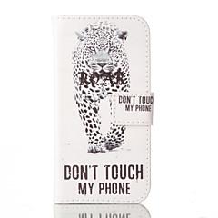 Недорогие Кейсы для iPhone 5-Для Кейс для iPhone 5 Бумажник для карт / со стендом / Флип Кейс для Чехол Кейс для Слова / выражения Твердый Искусственная кожаiPhone