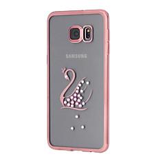 Varten Samsung Galaxy S7 Edge Paljetti / Pinnoitus / Läpinäkyvä / Kuvio Etui Takakuori Etui Eläin TPU SamsungS7 edge / S7 / S6 edge plus