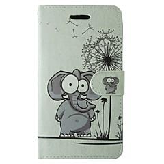 Etui Til Samsung Galaxy S8 S7 Pung Kortholder Med stativ Flip Heldækkende Dyr Tegneserie Mælkebøtte Hårdt Kunstlæder for S8 S7 S6 edge S6