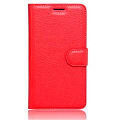 Недорогие Чехлы и кейсы для Xiaomi-Кейс для Назначение Xiaomi Кейс для Mi Бумажник для карт Кошелек со стендом Флип Чехол Сплошной цвет Твердый Кожа PU для
