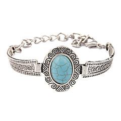 Χαμηλού Κόστους Γυναικεία κοσμήματα-Ανδρικά Γυναικεία Vintage Βραχιόλια Πετράδια σχετικά με τον μήνα γέννησης Etnic Τυρκουάζ Κράμα Κοσμήματα Γάμου Πάρτι Καθημερινά Causal