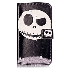 For LGK10 K7 K8 V10 LS775 Case Cover Star Ghosts Pattern Painting Card Stent PU Leather Phone Case