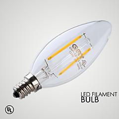 preiswerte LED-Birnen-≥200 lm E12 LED Kerzen-Glühbirnen B 2 Leds COB Abblendbar Dekorativ Warmes Weiß Wechselstrom 110-130V