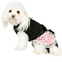 Σκυλιά Φορέματα Μαύρο Ρούχα για σκύλους Χειμώνας / Καλοκαίρι / Άνοιξη/Χειμώνας Αστέρια / Πέρλα Μοντέρνα