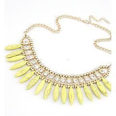 preiswerte Halsketten-Damen Perle Statement Ketten / Perlenkette - Perle Erklärung, Europäisch, Modisch Gelb, Rot, Blau Modische Halsketten Für Party