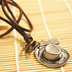 Недорогие Ожерелья-Муж. Кожа Ожерелья с подвесками  -  Геометрической формы Ожерелье Назначение Повседневные Спорт