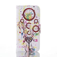 """Для Кейс для iPhone 5 Кошелек / Бумажник для карт / со стендом / Флип / С узором Кейс для Чехол Кейс для Рисунок """"Ловец снов"""" Твердый"""