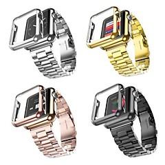 Horloge band met horloge hoesje voor Apple Watch roestvrijstalen vervanging band