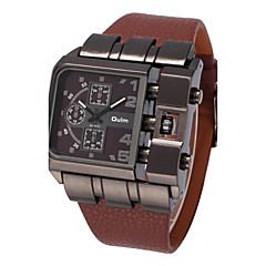 preiswerte Tolle Angebote auf Uhren-Oulm Militäruhr Armbanduhr Sender Cool, Großes Ziffernblatt Braun / Rot / Blau / Edelstahl / Zwei jahr / Zwei jahr / SOXEY SR626SW