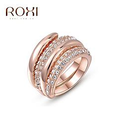 お買い得  指輪-女性用 ステートメントリング  -  合金 ファッション ワンサイズ ローズゴールド 用途 結婚式 オフィス&キャリア