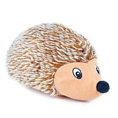 Katzenspielsachen Hundespielzeug Haustierspielsachen Plüsch-Spielzeug quietschen Igel Gewebe Braun