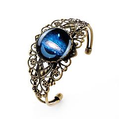 billige Armbånd-Charm-armbånd Armbånd minimalistisk stil Skåret Ædelsten Sølvbelagt Glas Legering Blomstformet MOON Bronze Smykker ForFest Daglig