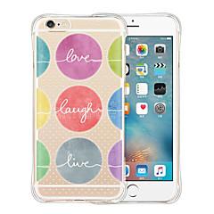 Недорогие Кейсы для iPhone 6-Кейс для Назначение Apple iPhone 6 iPhone 6 Plus Защита от удара Прозрачный С узором Кейс на заднюю панель Мультипликация Мягкий Силикон