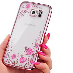 Case Kompatibilitás Samsung Galaxy Samsung Galaxy tok Strassz Galvanizálás Átlátszó Minta Hátlap Virág TPU mert A7(2016) A5(2016)