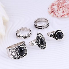 cheap Rings-Women's Statement Ring - Alloy Fashion One Size Silver / Golden For Daily Casual / 5pcs