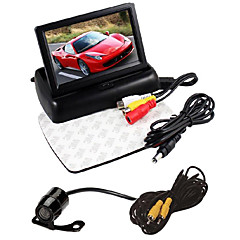 "4.3"" Foldable LCD Display Monitor Kit+Car Rear View HD Camera"