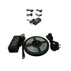 abordables Regalo Gratis-Tiras LED Flexibles 300 LED 5050 SMD Blanco Cálido Cortable 12 V