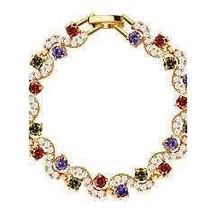 preiswerte Armbänder-Damen Kristall Ketten- & Glieder-Armbänder - Krystall, Zirkon, vergoldet Armbänder Golden Für Hochzeit Party Alltag