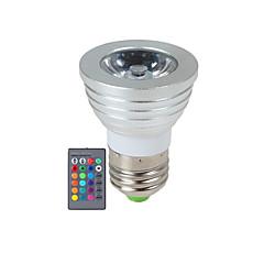 お買い得  LED 電球-YWXLIGHT® 270 lm E14 GU10 E26/E27 LEDスポットライト 1 LEDの ハイパワーLED 調光可能 リモコン操作 RGB AC85-265V