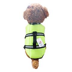 お買い得  犬用ウェア&アクセサリー-犬 ベスト ライフジャケット 犬用ウェア オレンジ グリーン ナイロン コスチューム ペット用 男性用 女性用 防水