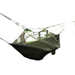 저렴한 캠핑 침구-해먹 울트라 라이트 (UL) 빠른 드라이 방풍 먼지 방지 모기&해충 퇴치 통기성 캔버스 나일론 수렵 하이킹 피싱 캠핑 야외 여행 봄 여름 가을
