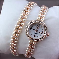 女性用 ファッションウォッチ ブレスレットウォッチ クォーツ 合金 バンド エレガント腕時計 シルバー ゴールド