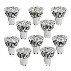 お買い得  LED 電球-GU10 GU5.3(MR16) LEDスポットライト MR16 ハイパワーLED 350-400 lm 温白色 クールホワイト 明るさ調整 交流220から240 AC 110-130 V 10個
