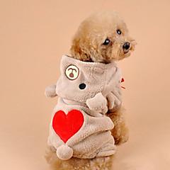お買い得  猫の服-ネコ 犬 コスチューム パーカー 犬用ウェア キュート コスプレ ベア グレー Brown コスチューム ペット用