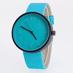 Men's Women's Couple's Fashion Watch Quartz Casual Watch Fabric Band Black Blue Red