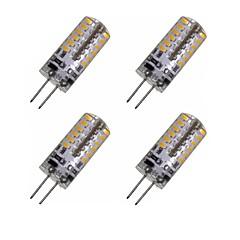 お買い得  LED 電球-4本 2W 150-200lm G4 LEDコーン型電球 T 48 LEDビーズ SMD 3014 装飾用 温白色 / クールホワイト 12V / 4個 / RoHs