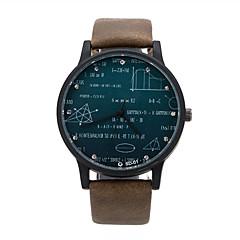 お買い得  大特価腕時計-男性用 リストウォッチ クォーツ ホット販売 レザー バンド ハンズ ワードダイアル腕時計 ブラック / ブラウン / グリーン - コーヒー Brown グリーン 1年間 電池寿命 / ステンレス / KC 377A