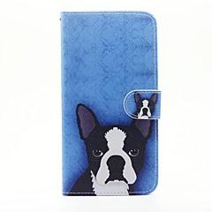 Для Кейс для iPhone 5 Кошелек / Бумажник для карт / со стендом / Флип / С узором Кейс для Чехол Кейс для С собакой ТвердыйИскусственная