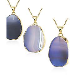 preiswerte Halsketten-Damen Kristall Anhängerketten - vergoldet Blau Modische Halsketten 1pc Für Party, Alltag