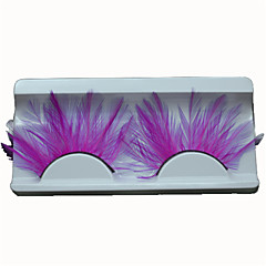False Eyelashes Feather Lady Hot Pink Lashes Accessories Individual For Party