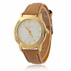 preiswerte Tolle Angebote auf Uhren-Damen Quartz Armbanduhr Imitation Diamant / Cool PU Band Retro / Freizeit / Modisch Schwarz